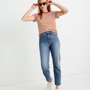 Madewell Classic Straight Jeans Peralta Wash Crop